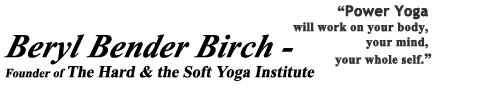 Beryl Bender Birch Yoga on audio
